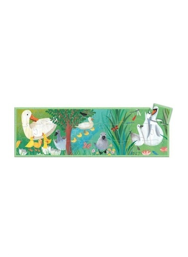 Djeco Djeco Dekoratif Puzzle 24 Parça/The Ugly Duckling Pembe